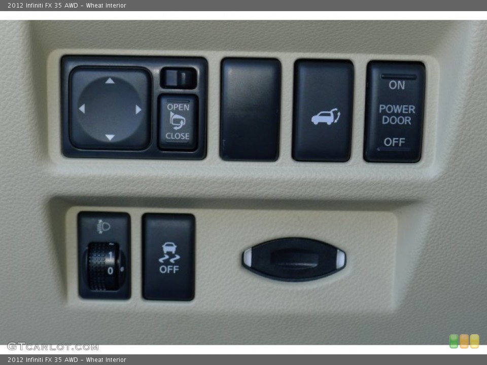 Wheat Interior Controls for the 2012 Infiniti FX 35 AWD #80021803