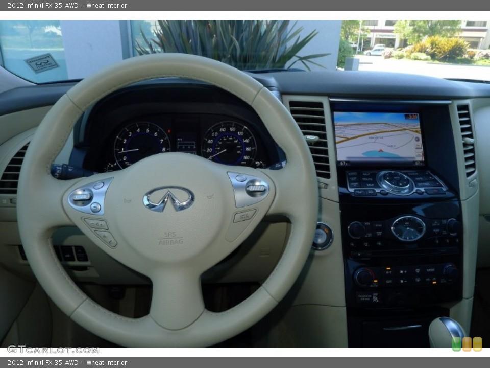 Wheat Interior Steering Wheel for the 2012 Infiniti FX 35 AWD #80021822