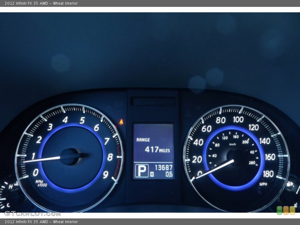 Wheat Interior Gauges for the 2012 Infiniti FX 35 AWD #80021838
