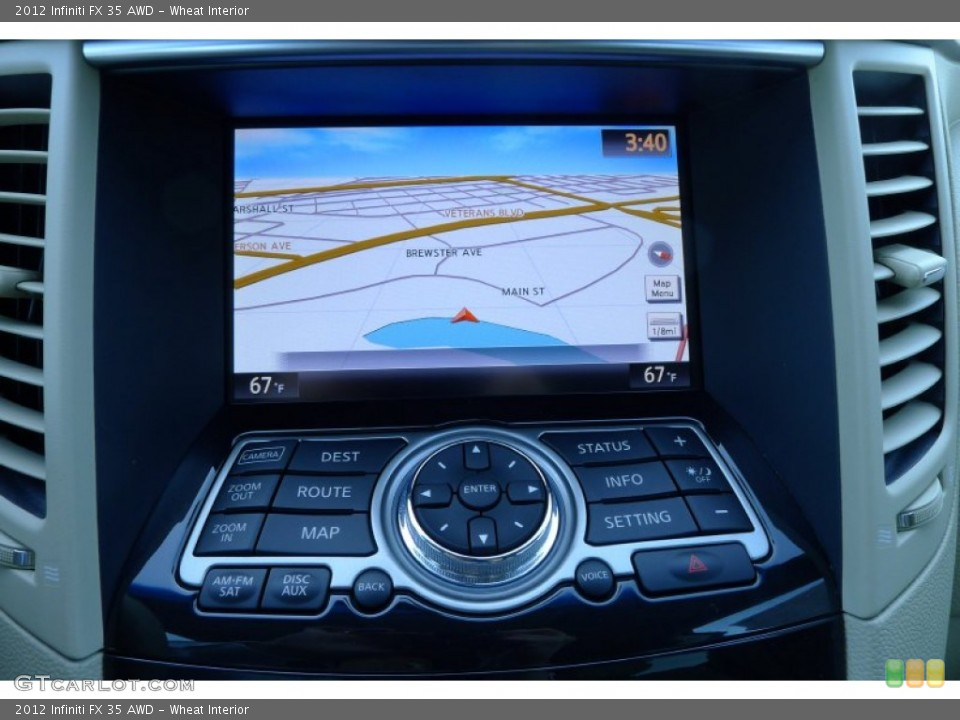 Wheat Interior Navigation for the 2012 Infiniti FX 35 AWD #80021858