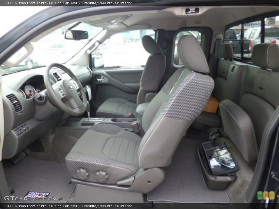 Graphite/Steel Pro-4X Interior Photo for the 2013 Nissan Frontier Pro-4X King Cab 4x4 #80035535