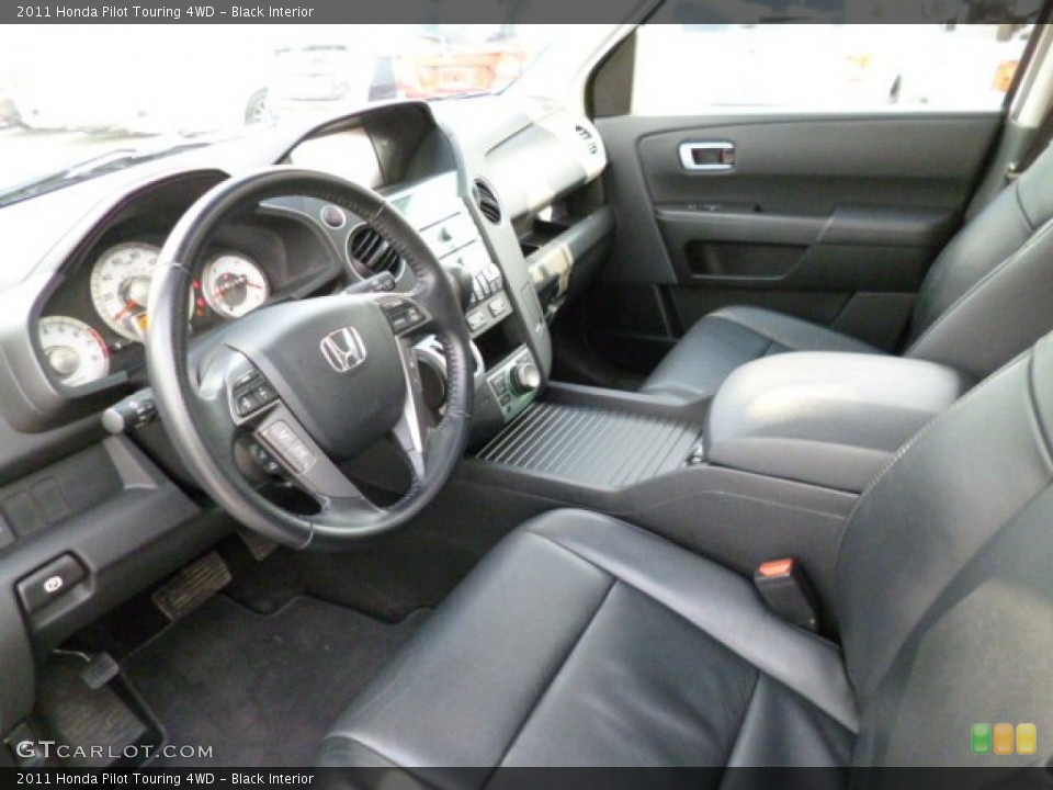 Black 2011 Honda Pilot Interiors