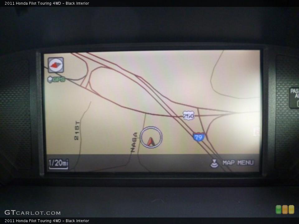 Black Interior Navigation for the 2011 Honda Pilot Touring 4WD #80303517