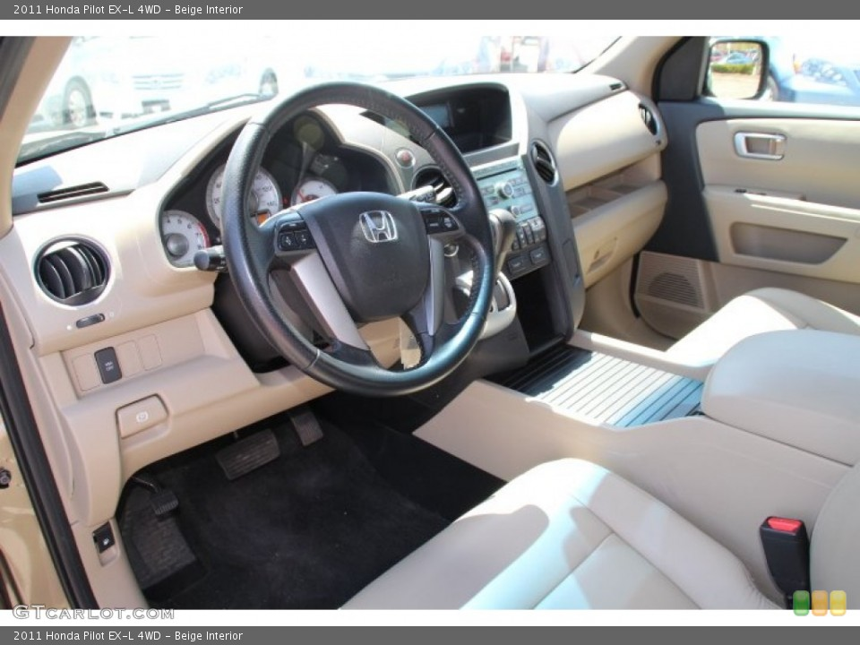 Beige 2011 Honda Pilot Interiors