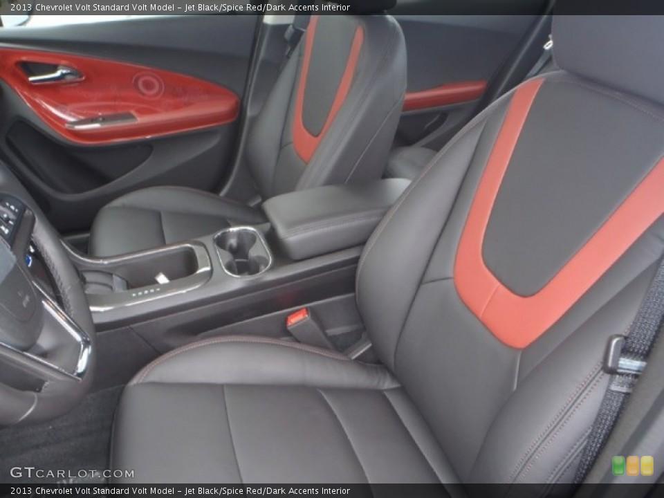 Jet Black/Spice Red/Dark Accents 2013 Chevrolet Volt Interiors