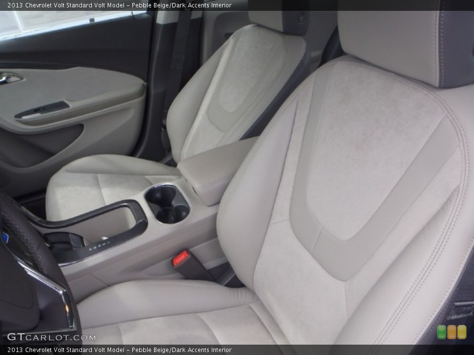 Pebble Beige/Dark Accents 2013 Chevrolet Volt Interiors