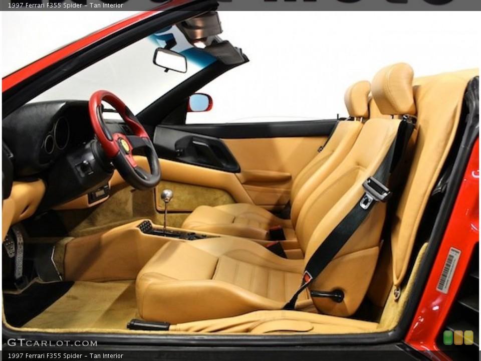 Tan Interior Front Seat for the 1997 Ferrari F355 Spider #80397809
