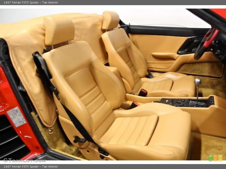Tan Interior Front Seat for the 1997 Ferrari F355 Spider #80397880