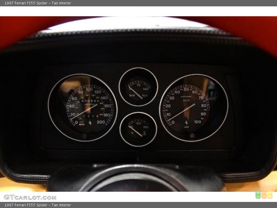 Tan Interior Gauges for the 1997 Ferrari F355 Spider #80397982