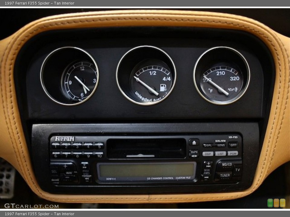 Tan Interior Gauges for the 1997 Ferrari F355 Spider #80398077