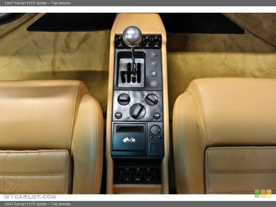 Tan Interior Controls for the 1997 Ferrari F355 Spider #80398101