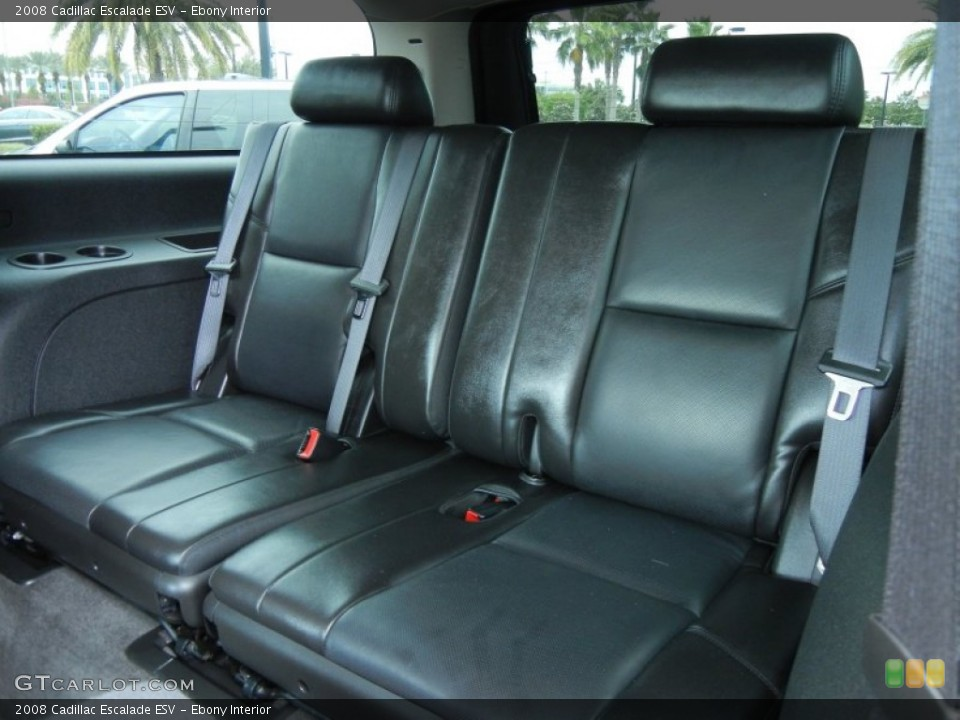 Ebony Interior Rear Seat for the 2008 Cadillac Escalade ESV #80410309