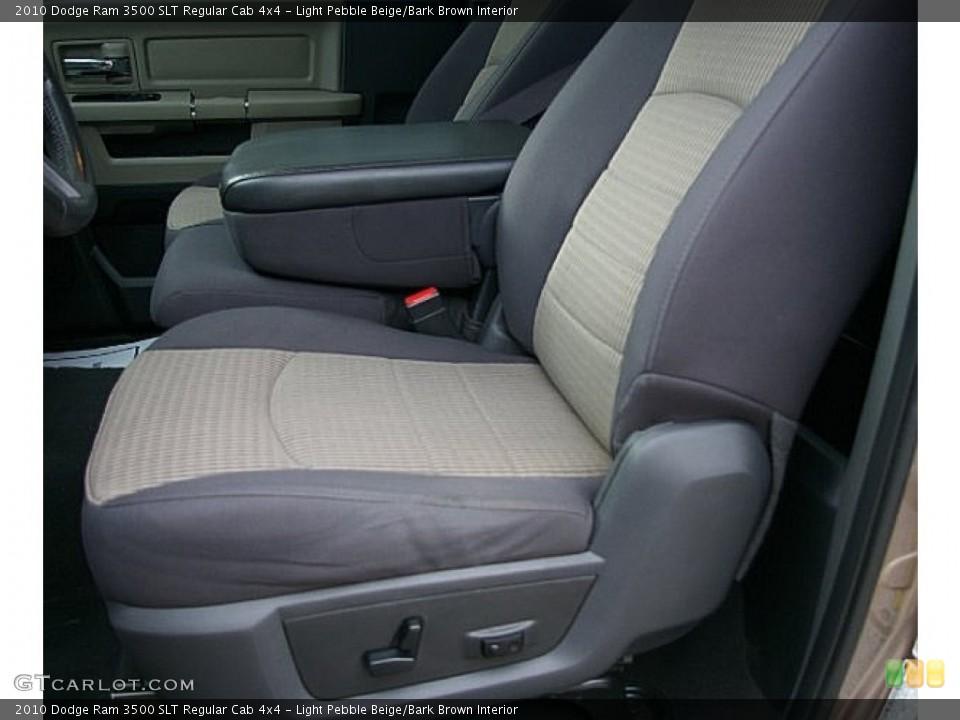 Light Pebble Beige/Bark Brown Interior Front Seat for the 2010 Dodge Ram 3500 SLT Regular Cab 4x4 #80414816