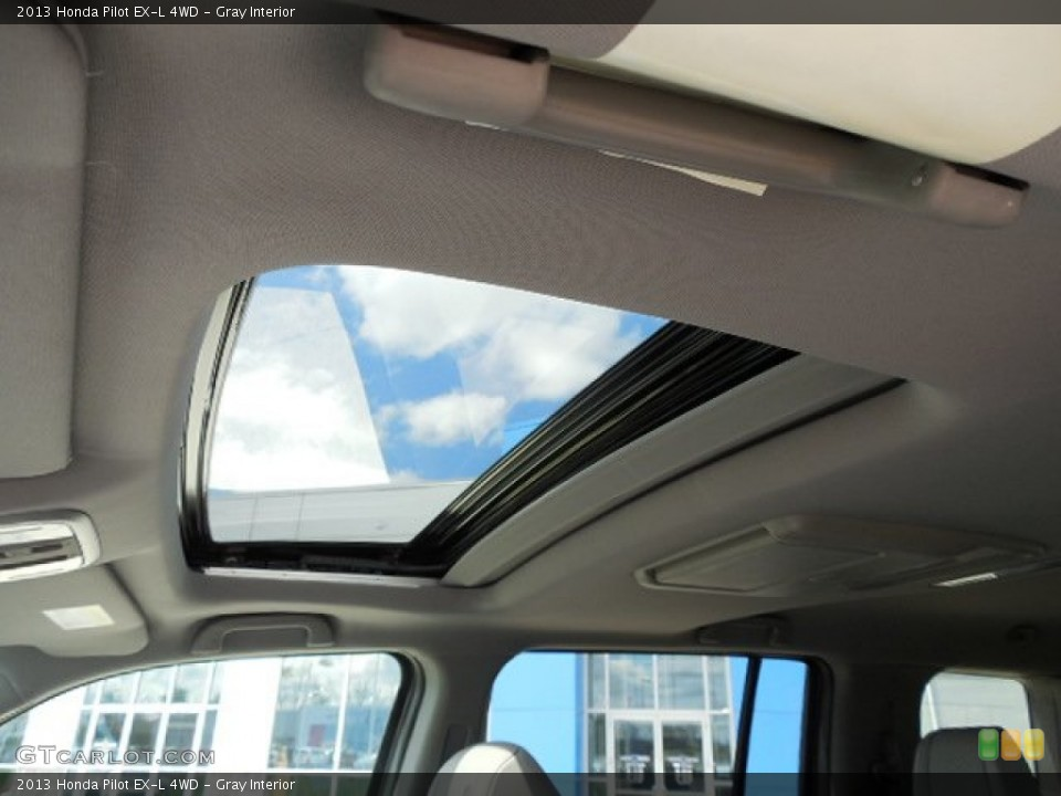 Gray Interior Sunroof for the 2013 Honda Pilot EX-L 4WD #80467143