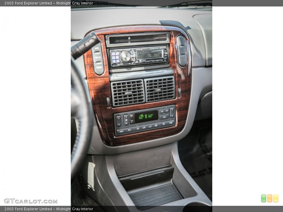 Midnight Gray Interior Controls for the 2003 Ford Explorer Limited #80521462