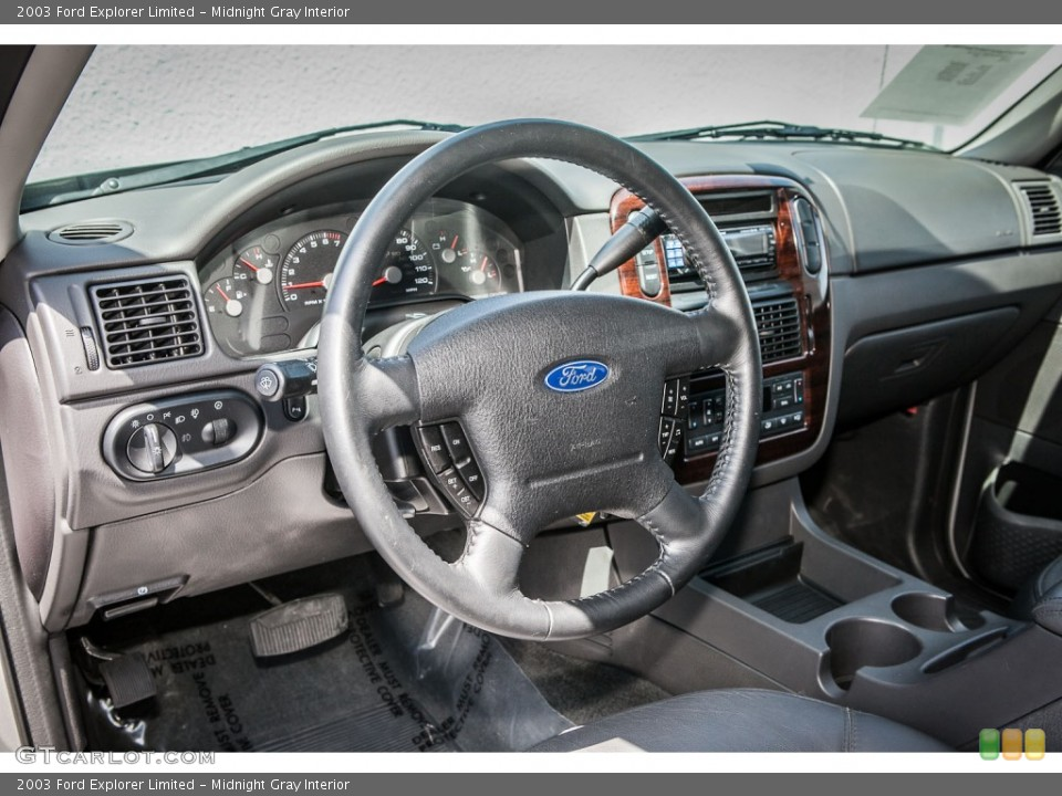 Midnight Gray Interior Dashboard for the 2003 Ford Explorer Limited #80521940