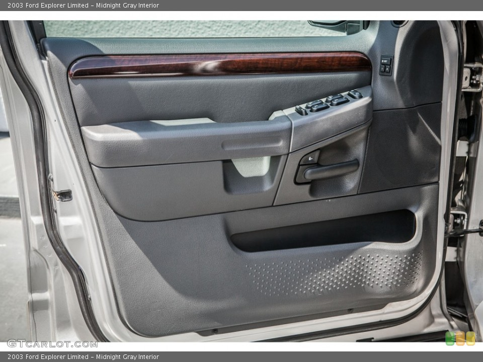 Midnight Gray Interior Door Panel for the 2003 Ford Explorer Limited #80521978