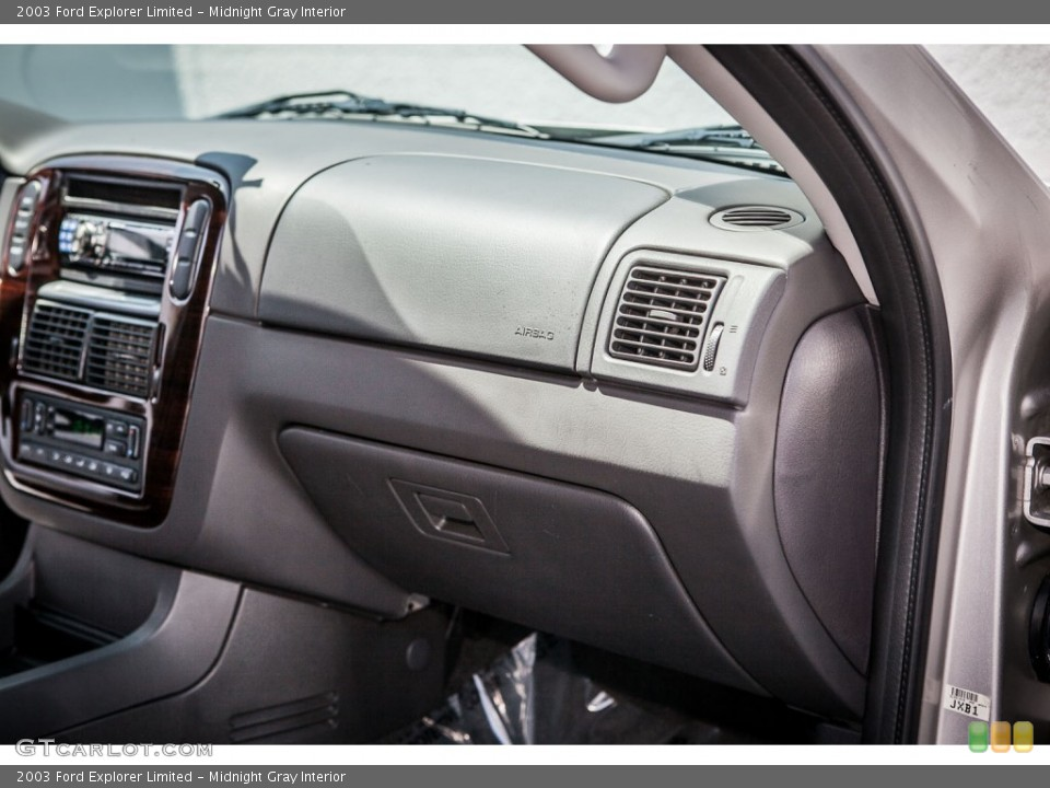 Midnight Gray Interior Dashboard for the 2003 Ford Explorer Limited #80522064