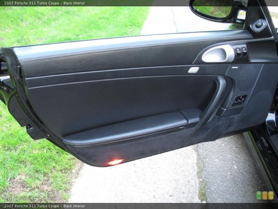 Black Interior Door Panel for the 2007 Porsche 911 Turbo Coupe #80570473