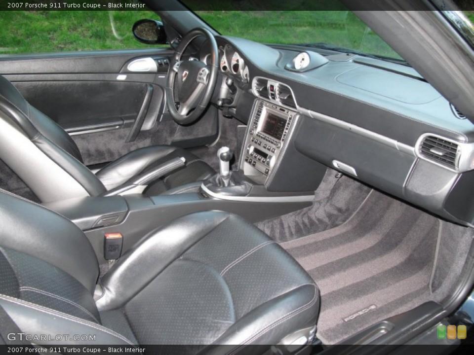 Black Interior Photo for the 2007 Porsche 911 Turbo Coupe #80570504
