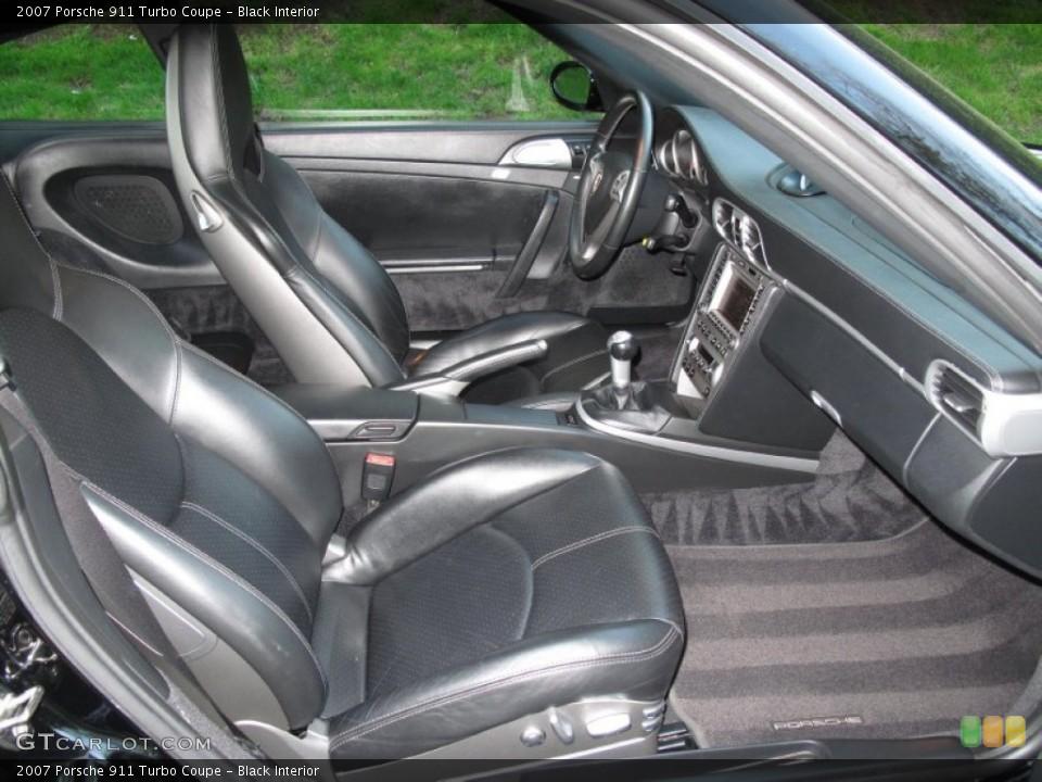 Black Interior Photo for the 2007 Porsche 911 Turbo Coupe #80570527