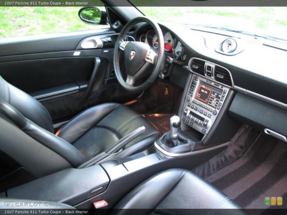 Black Interior Photo for the 2007 Porsche 911 Turbo Coupe #80570551