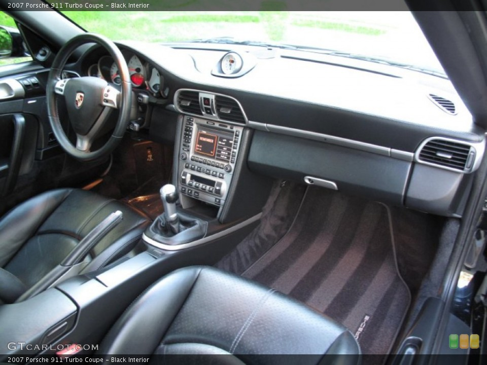Black Interior Dashboard for the 2007 Porsche 911 Turbo Coupe #80570572