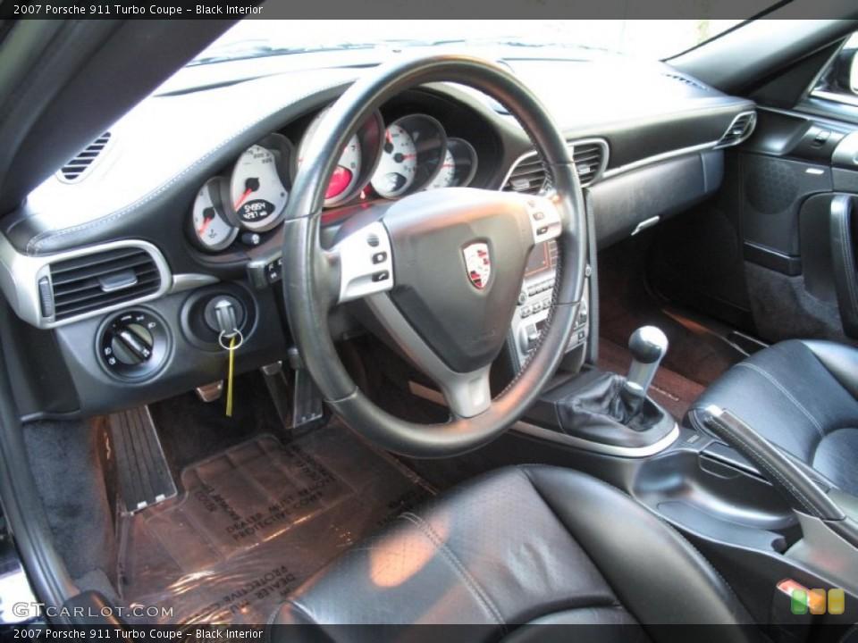 Black Interior Prime Interior for the 2007 Porsche 911 Turbo Coupe #80570596