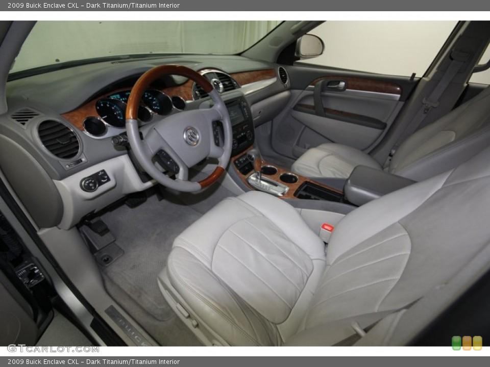 Dark Titanium/Titanium 2009 Buick Enclave Interiors