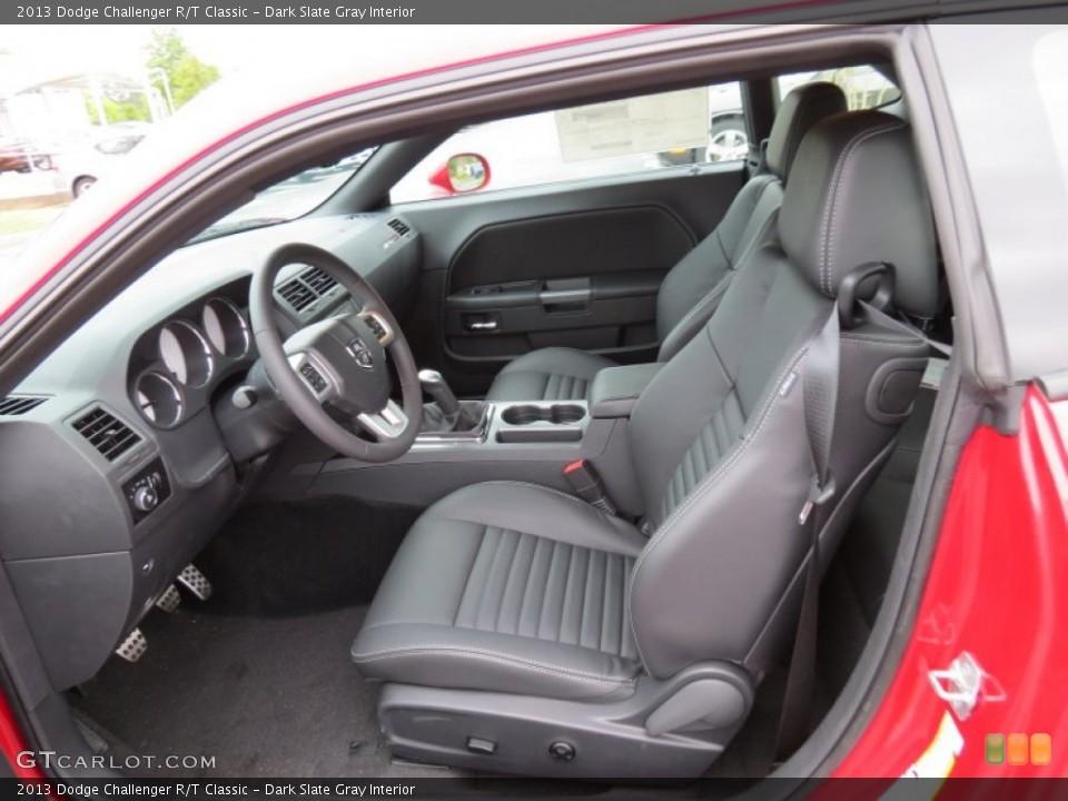 Dark Slate Gray Interior Photo for the 2013 Dodge Challenger R/T Classic #80609072