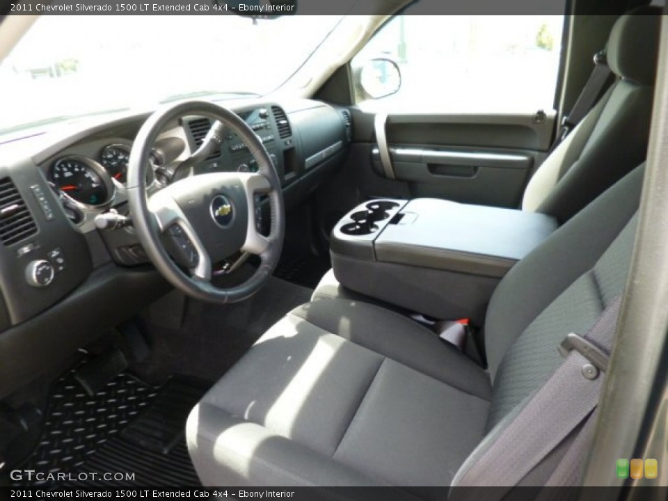 Ebony Interior Prime Interior for the 2011 Chevrolet Silverado 1500 LT Extended Cab 4x4 #80609983