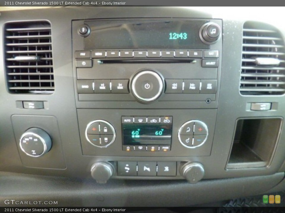 Ebony Interior Controls for the 2011 Chevrolet Silverado 1500 LT Extended Cab 4x4 #80610030