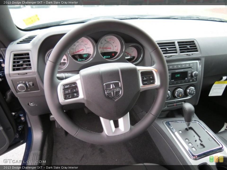 Dark Slate Gray Interior Steering Wheel for the 2013 Dodge Challenger SXT #80610231