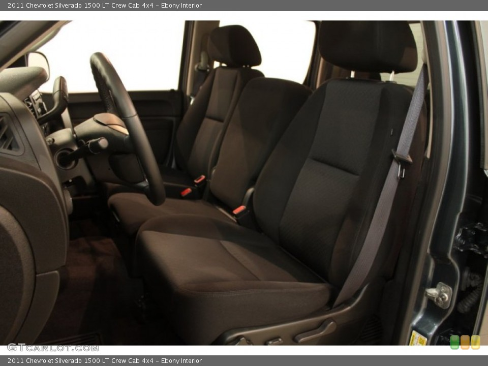 Ebony Interior Front Seat for the 2011 Chevrolet Silverado 1500 LT Crew Cab 4x4 #80635385