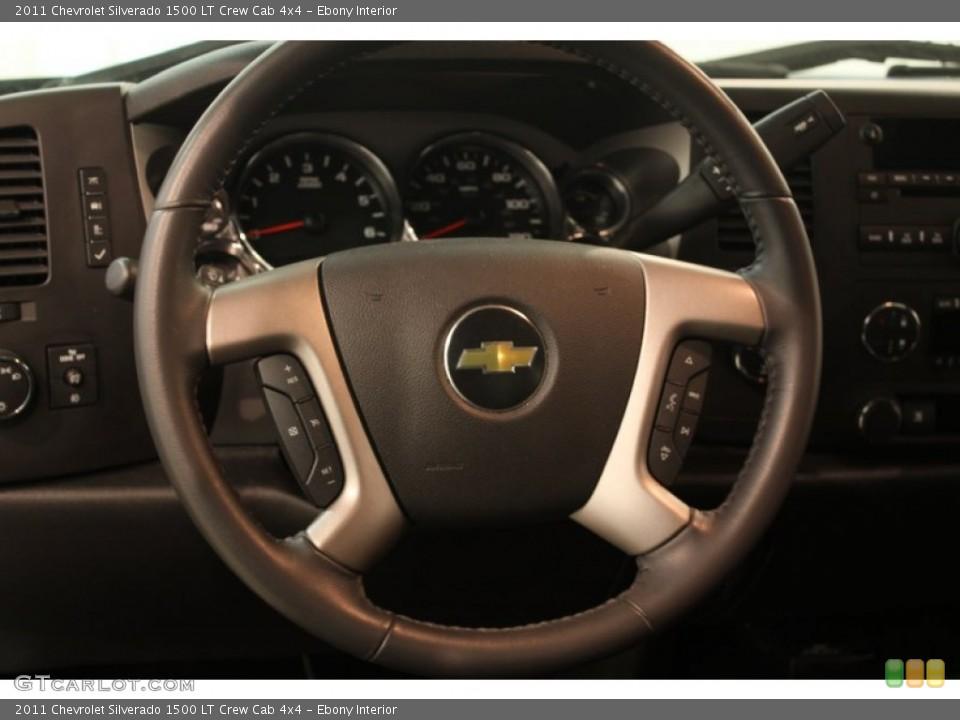 Ebony Interior Steering Wheel for the 2011 Chevrolet Silverado 1500 LT Crew Cab 4x4 #80635408