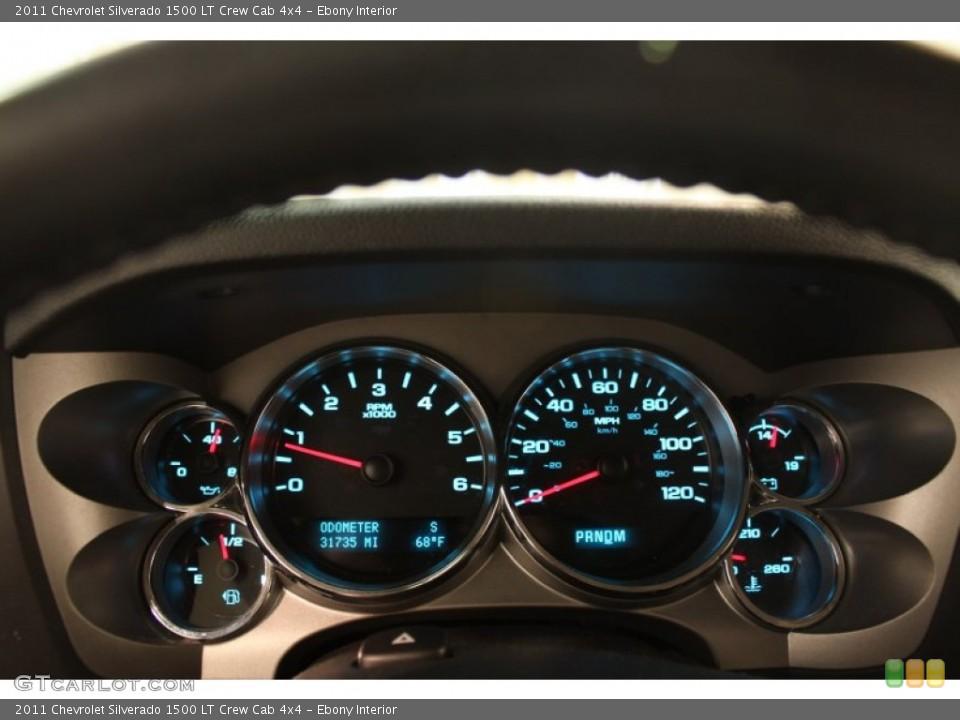 Ebony Interior Gauges for the 2011 Chevrolet Silverado 1500 LT Crew Cab 4x4 #80635426