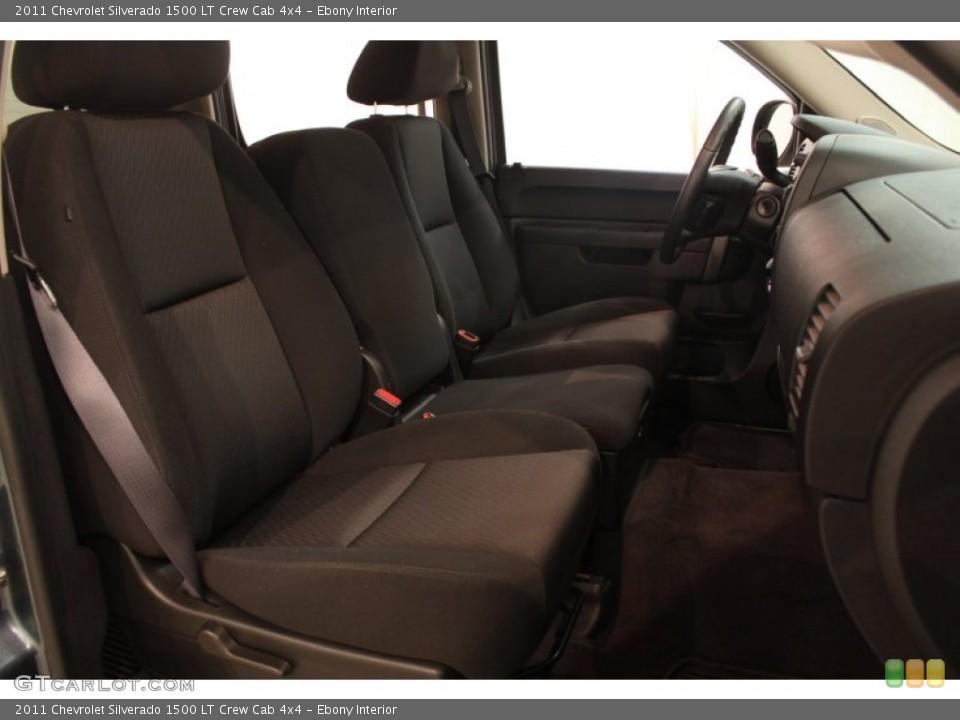 Ebony Interior Photo for the 2011 Chevrolet Silverado 1500 LT Crew Cab 4x4 #80635492