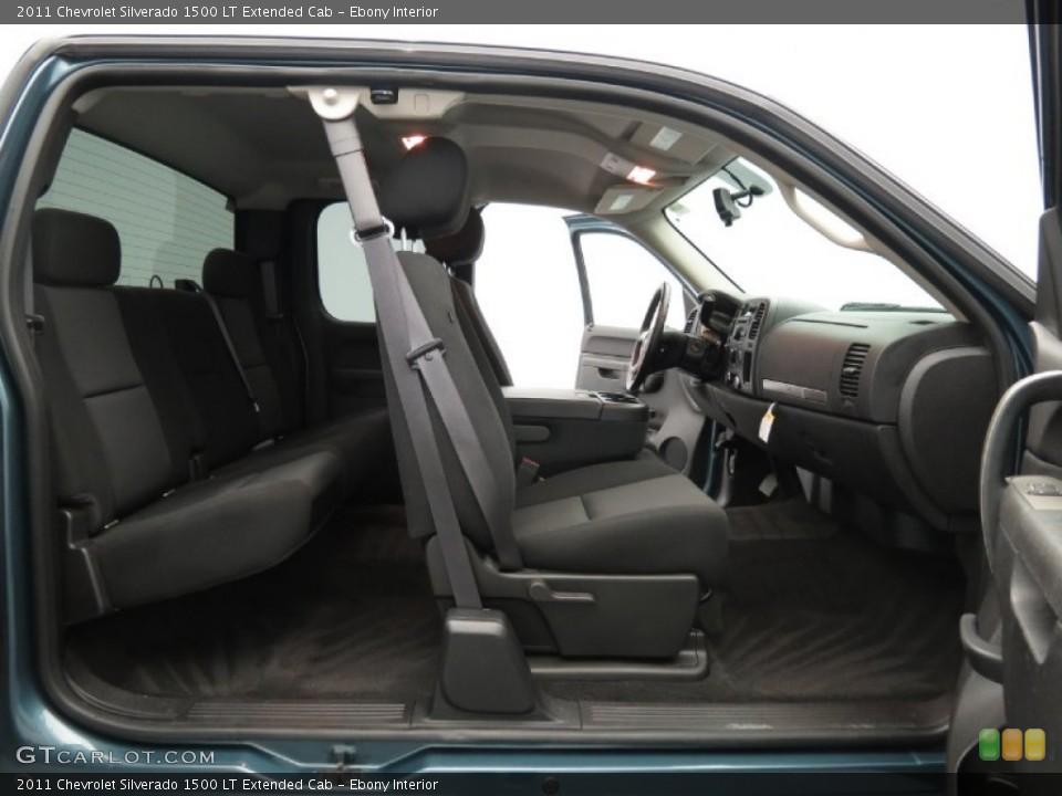 Ebony Interior Photo for the 2011 Chevrolet Silverado 1500 LT Extended Cab #80691334
