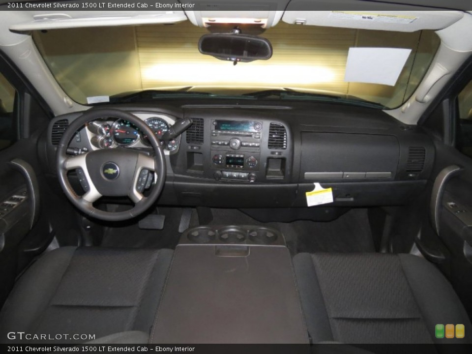 Ebony Interior Dashboard for the 2011 Chevrolet Silverado 1500 LT Extended Cab #80691380