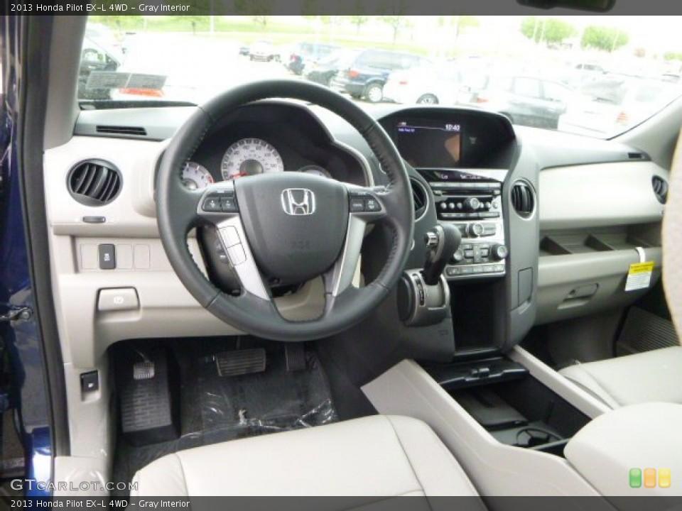 Gray Interior Dashboard for the 2013 Honda Pilot EX-L 4WD #80782668