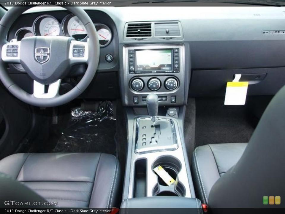 Dark Slate Gray Interior Dashboard for the 2013 Dodge Challenger R/T Classic #80807980