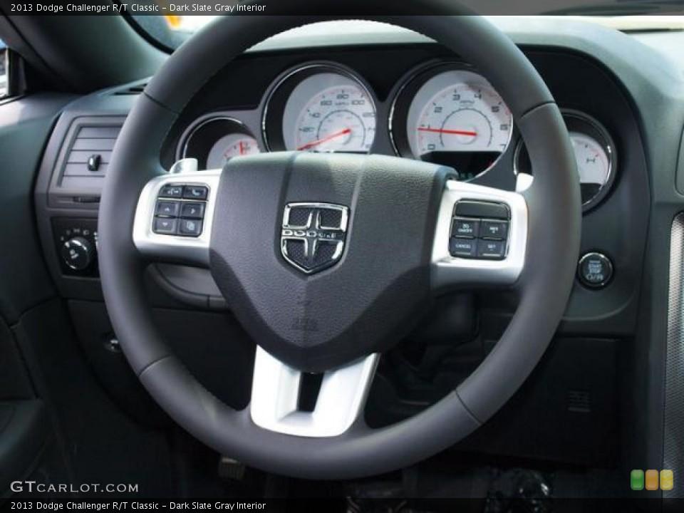 Dark Slate Gray Interior Steering Wheel for the 2013 Dodge Challenger R/T Classic #80807997