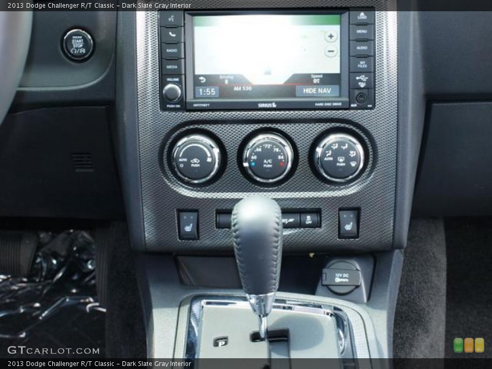 Dark Slate Gray Interior Controls for the 2013 Dodge Challenger R/T Classic #80808019