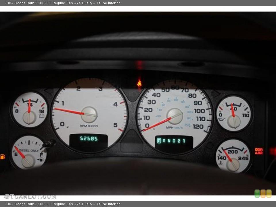 Taupe Interior Gauges for the 2004 Dodge Ram 3500 SLT Regular Cab 4x4 Dually #80832913