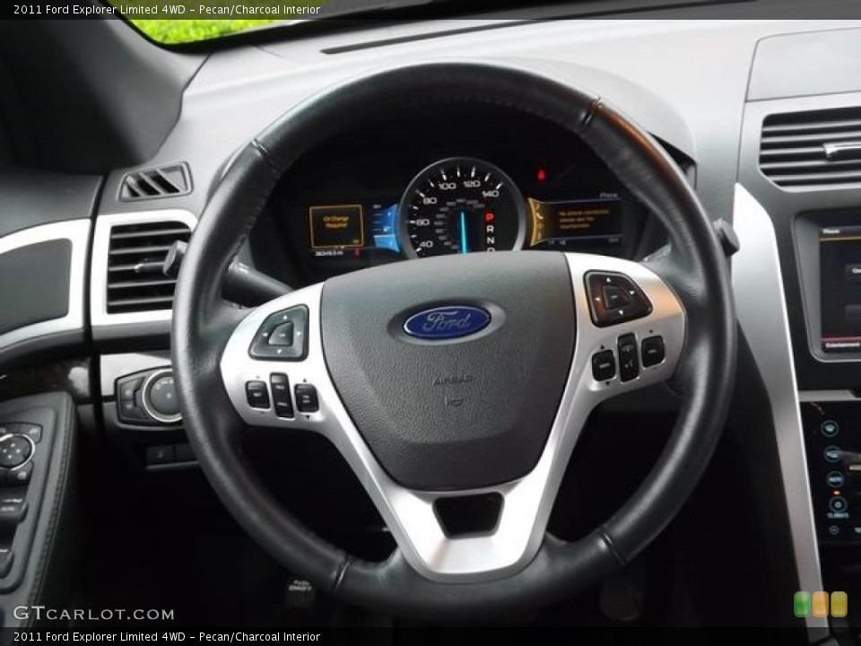 Pecan/Charcoal Interior Steering Wheel for the 2011 Ford Explorer Limited 4WD #80845484