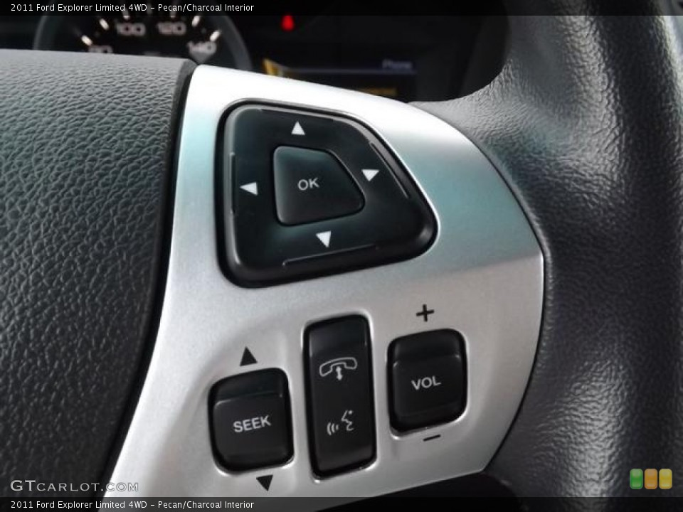 Pecan/Charcoal Interior Controls for the 2011 Ford Explorer Limited 4WD #80845512
