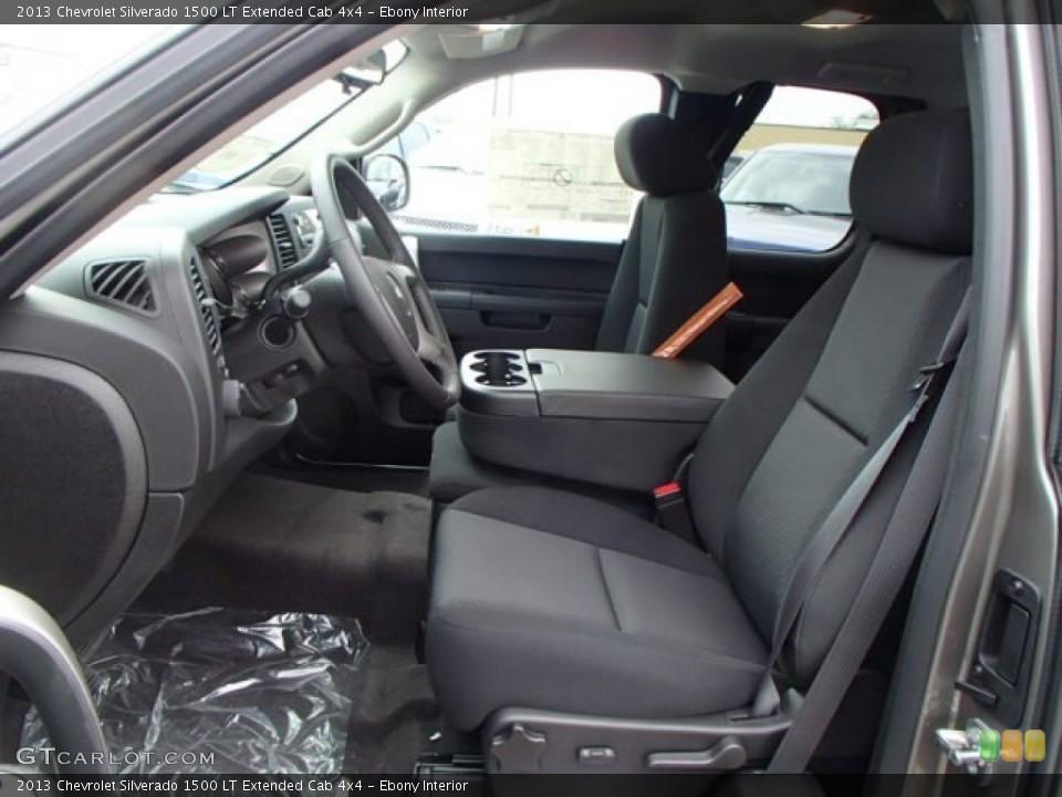 Ebony Interior Photo for the 2013 Chevrolet Silverado 1500 LT Extended Cab 4x4 #80887900