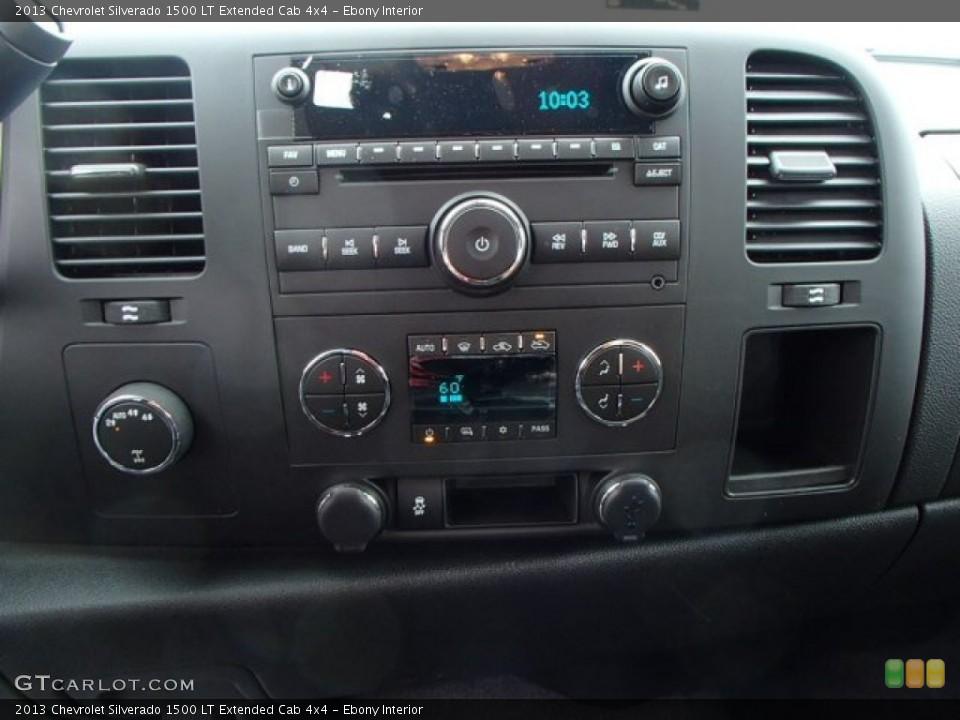 Ebony Interior Controls for the 2013 Chevrolet Silverado 1500 LT Extended Cab 4x4 #80887979