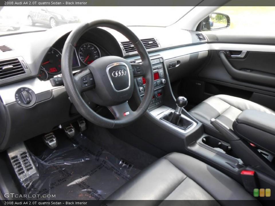 Black 2008 Audi A4 Interiors
