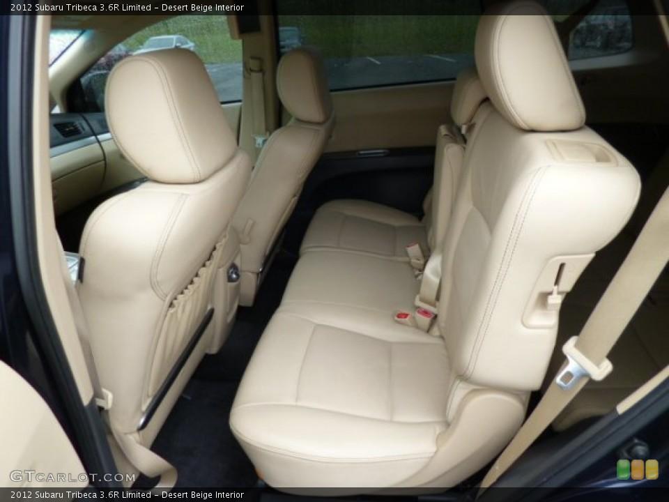 Desert Beige Interior Rear Seat for the 2012 Subaru Tribeca 3.6R Limited #80935552